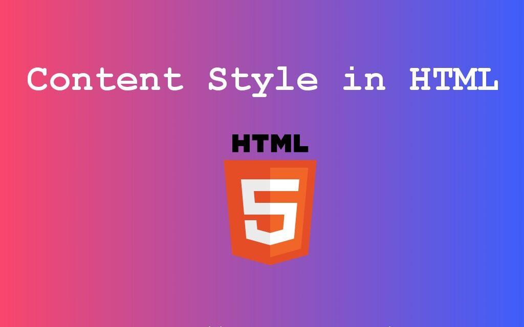 سبک محتوا در HTML – PHPGurukul
