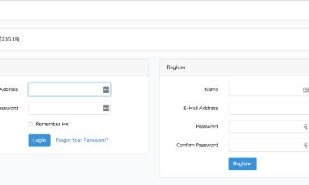 لاراول: فرم های ورود و ثبت نام در همان صفحه