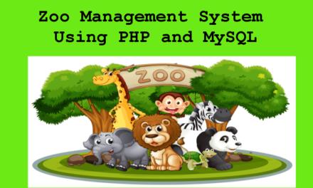 پروژه سیستم مدیریت باغ وحش در PHP