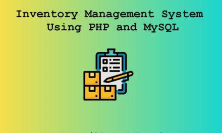 سیستم مدیریت موجودی با استفاده از PHP و MySQL