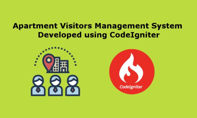 سیستم مدیریت بازدید کنندگان آپارتمان با استفاده از CodeIgniter ساخته شده است