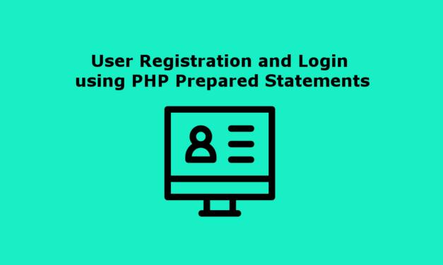 ثبت نام و ورود کاربر با استفاده از بیانیه های آماده شده PHP