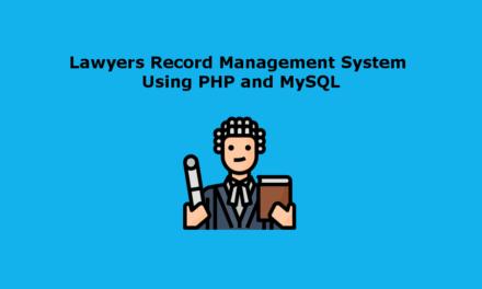 سیستم مدیریت ضبط وکلا با استفاده از PHP و MySQL