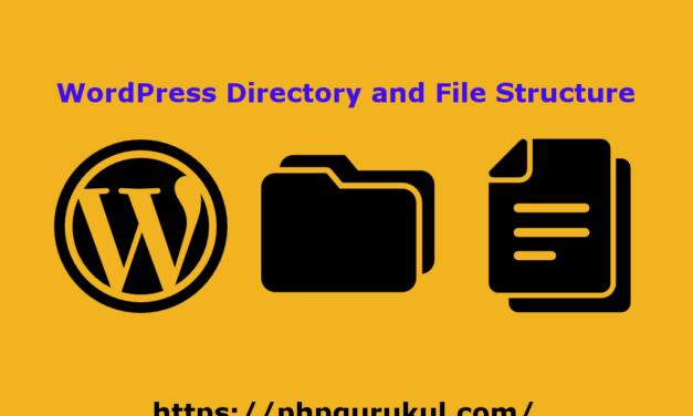 فهرست وردپرس و ساختار فایل