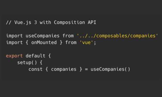 لاراول 8 + Vue.js 3 CRUD با API Composition