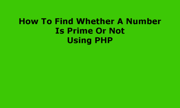 چگونه می توان فهمید که یک عدد اول است یا از PHP استفاده نمی کند